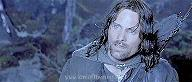 Aragorn looking up in amazement